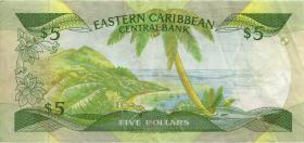 Ost Karibik / East Caribbean P.18m 5 Dollars (1986-88) (1)