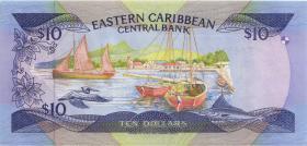 Ost Karibik / East Caribbean P.23a2 10 Dollars (1985-93) (1)
