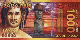 Osterinseln / Easter Islands  1000 Rongos (= 2 $) 2011 Polymer