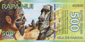 Osterinseln / Easter Islands 500 Rongos (= 1 $) 2011 Polymer