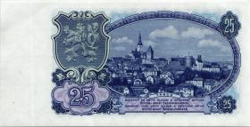 Tschechoslowakei / Czechoslovakia P.84b 25 Kronen 1953 (1-)