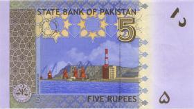 Pakistan P.53b 5 Rupien 2009 (1)