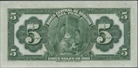 Peru P.066 5 Soles 1939 (1)