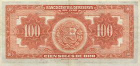 Peru P.073 100 Soles 1952 (3)