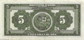 Peru P.083 5 Soles de Oro 1962 (1)