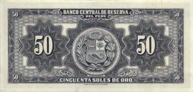 Peru P.085 50 Soles de Oro 1962 (1)