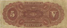 Peru P.003 5 Soles 1879 (3)