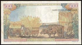 St. Pierre & Miquelon P.33 10 NF auf 500 Francs (1960) (3+)