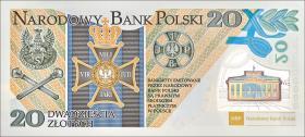 Polen / Poland P.187 20 Zlotych 2014 Gedenkbanknote  (1)