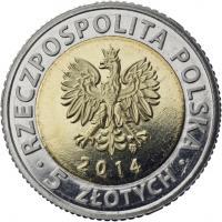 Polen 5 Zlotych 2014 Königliches Schloß Warschau