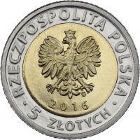 Polen 5 Zlotych 2016 Priestermühle Lodz