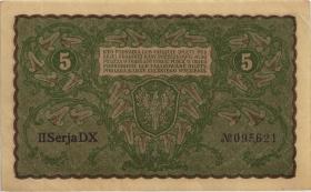 Polen / Poland P.024 5 Marek 1919 (2/1)