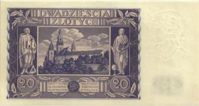Polen / Poland P.077 20 Zlotych 1936 (1)