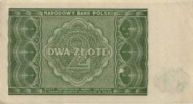 Polen / Poland P.124 2 Zlotych 1946 (1-)