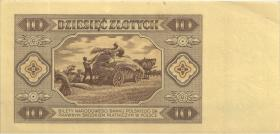 Polen / Poland P.136 10 Zlotych 1948 (1-)