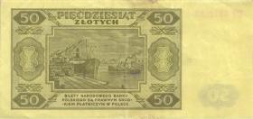 Polen / Poland P.138 50 Zlotych 1948 (3)