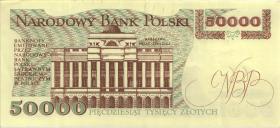 Polen / Poland P.153 50000 Zlotych 1989 (3+) Serie Z