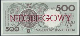 Polen / Poland P.172 500 Zlotych 1990 (nicht verausgabt) (1)