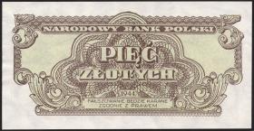 Polen / Poland P.108 5 Zlotych 1944 (1)