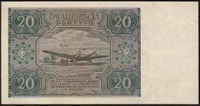 Polen / Poland P.127 20 Zlotych 1946 (2)