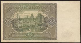 Polen / Poland P.132 500 Zlotych 1947 (3+)