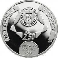 Portugal 2,5 Euro 2013 Jose Saramago (Silber)