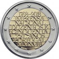 Portugal 2 Euro 2018 250 J. Münzstätte im Folder stg