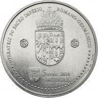 Portugal 5 Euro 2014 Eleonore v. Portugal (Kupfer-Nickel)