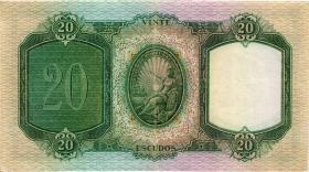 Portugal P.153a 20 Escudos 1954 (3+)