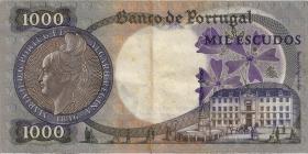Portugal P.172a 1000 Escudos 1967 (3)