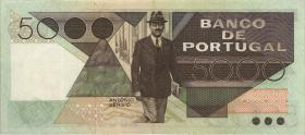 Portugal P.182c 5000 Escudos 1983 (2)