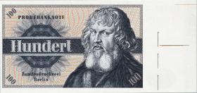 100 (DM) Probebanknote der Bundesdruckerei Berlin (1960)