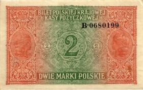 R.451b: Besetzung Polen 2 Marki 1917 B (3+)
