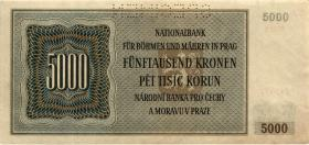 R.568b: Böhmen & Mähren 5.000 Krone 1944 (2)