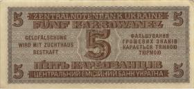 R.593: Besetzung Ukraine 5 Karbowanez 1942 (2+)