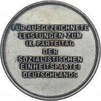 Für ausgezeichnete Leistungen zum IX. Parteitag der SED (Reichsbahn)