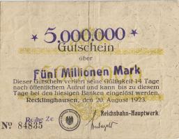 MG076.04 Recklinghausen 5 Millionen Mark 1923 (3)