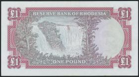 Rhodesien / Rhodesia P.28d 1 Pound 1968 (2)