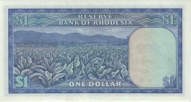 Rhodesien / Rhodesia P.30e 1 Dollar 19.7.1971 (3/2)