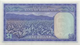 Rhodesien / Rhodesia P.30i 1 Dollar 12.8.1974 (1)