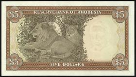 Rhodesien / Rhodesia P.32a 5 Dollars 1972 (1)