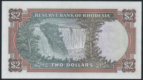 Rhodesien / Rhodesia P.35b 2 Dollars 15.4.1977 (1)
