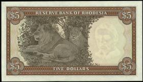 Rhodesien / Rhodesia P.36a 5 Dollars 1.3.1976 (1)