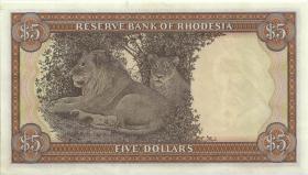 Rhodesien / Rhodesia P.36b 5 Dollars 20.10.1978 (1/1-)