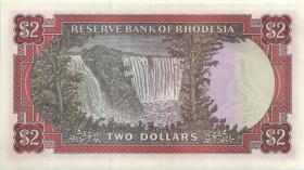 Rhodesien / Rhodesia P.39 2 Dollars 1979 (1-)