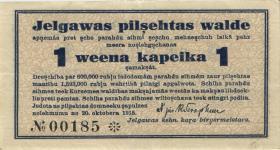 Lettland / Latvia LE 35: 1 Kopeke 1915 Mitau (3+)