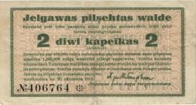 Lettland / Latvia LE 36: 2 Kopeken 1915 Mitau (4)