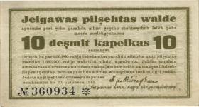 Lettland / Latvia LE 39 : 10 Kopeken 1915 Mitau (3)
