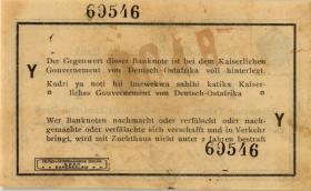 R.916p: Deutsch-Ostafrika 1 Rupie 1915 Y (1-)