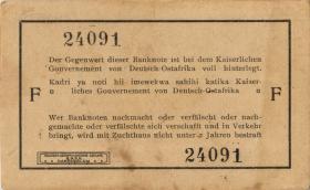 R.918c: Deutsch-Ostafrika 1 Rupie 1915 F (1-)